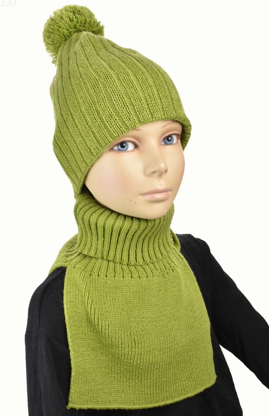 aed800108dcf Detský set čiapka a rolákový šál zelená 079