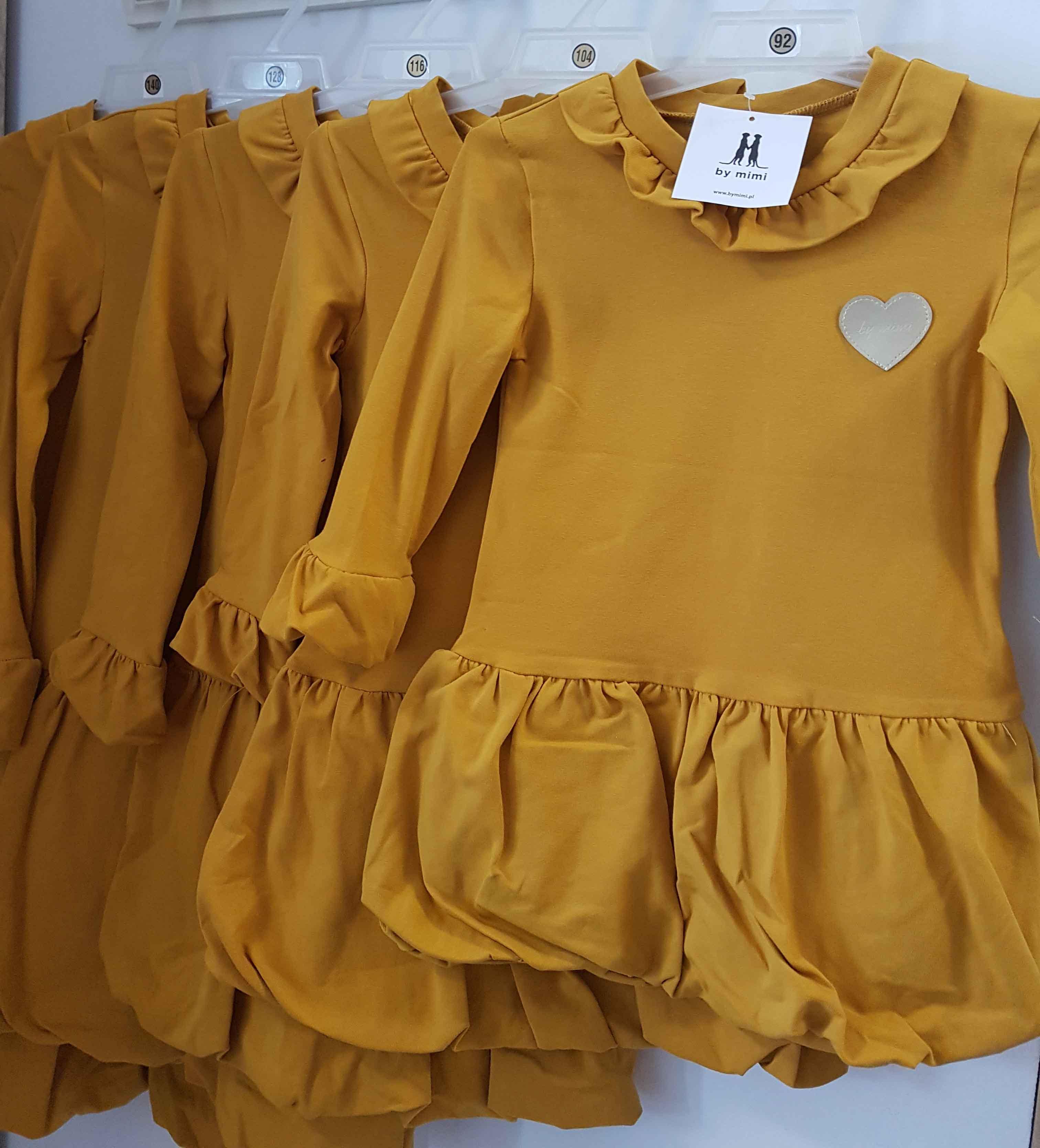 bcc07d4b12f2 By Mimi dievčenské horčicové šaty