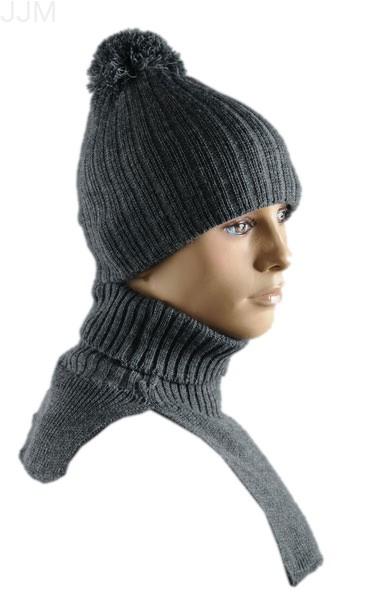 9e911ae33 Pánsky set čiapka a šál tmavo sivá 001
