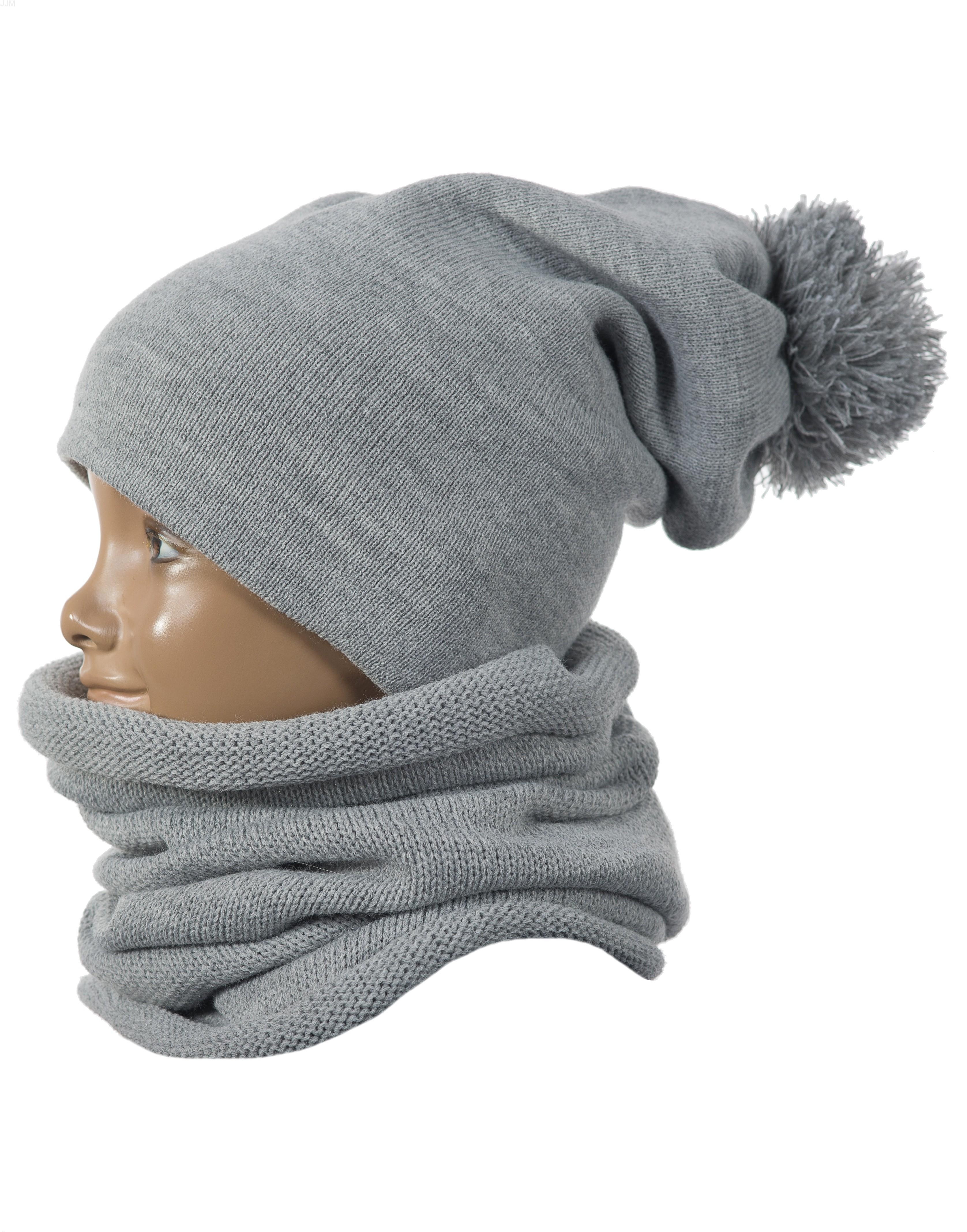 Detský set čiapka a komínový šál svetlo šedý d0c0012a20