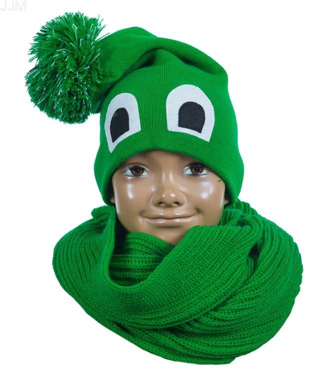 7e12ea75fa1f Detský set čiapka a komínový šál zelený