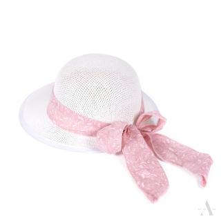 72cc1bd83 Art of Polo dámsky klobúk biely s mašľou cz19131