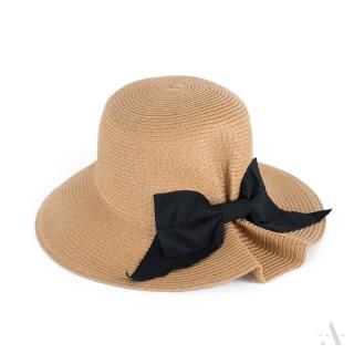 e2eb3da33 Art of Polo dámsky klobúk béžový s mašľou cz19124