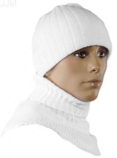 431f1480ae48 Pánsky set čiapka a rolákový šál biela 012