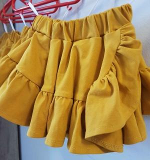 1e2e34e55803 By Mimi dievčenská horčicová suknička